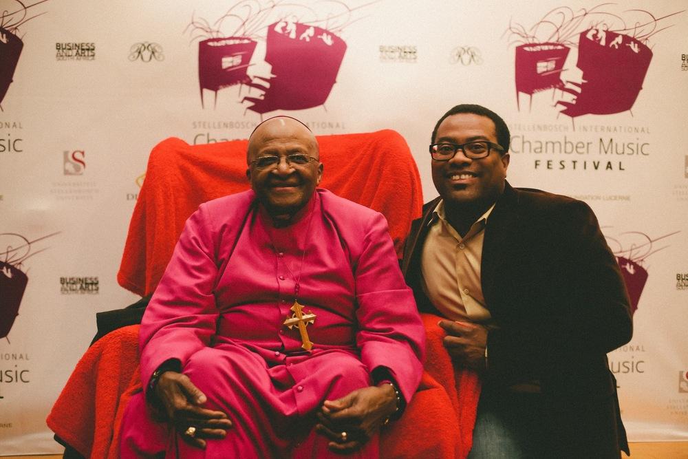 Archbishop Desmond Tutu and Billy Hunter