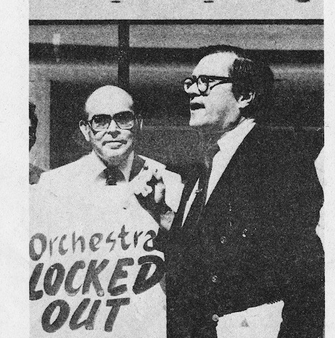 AFM President Victor Fuentealba and Sandor Balint in the August 1980 issue of Allegro Magazine