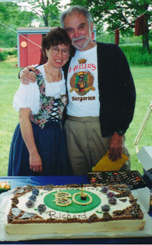 Marian Heller and Richard Nass celebrate his 80th Birthday in Pine Plains, New York