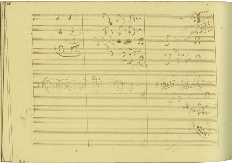 The manuscript of Beethoven's Violin Concerto