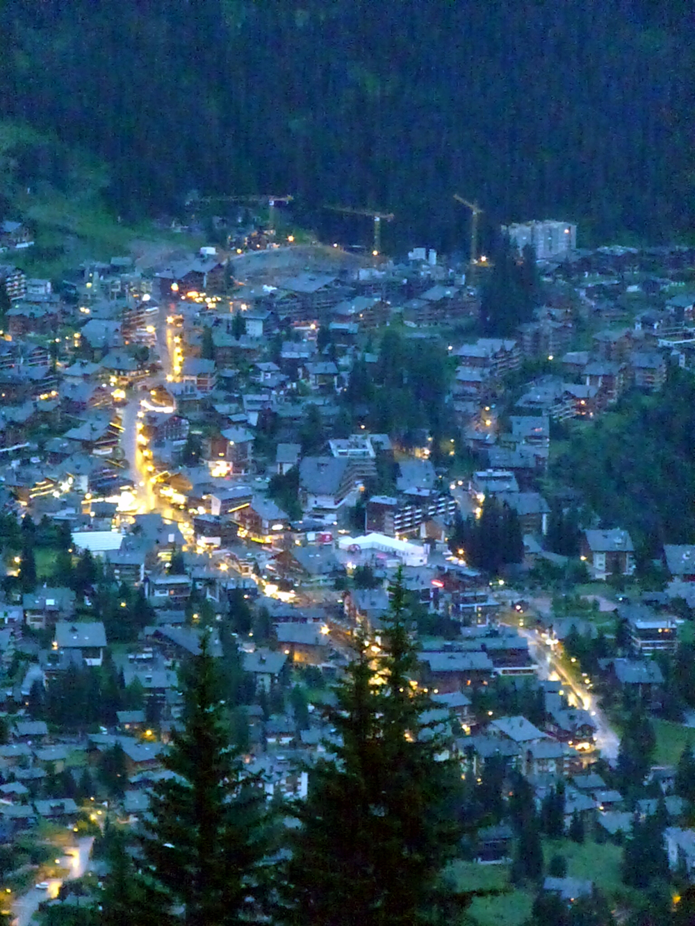 Verbier at night (Photo by Joseph Anderer)