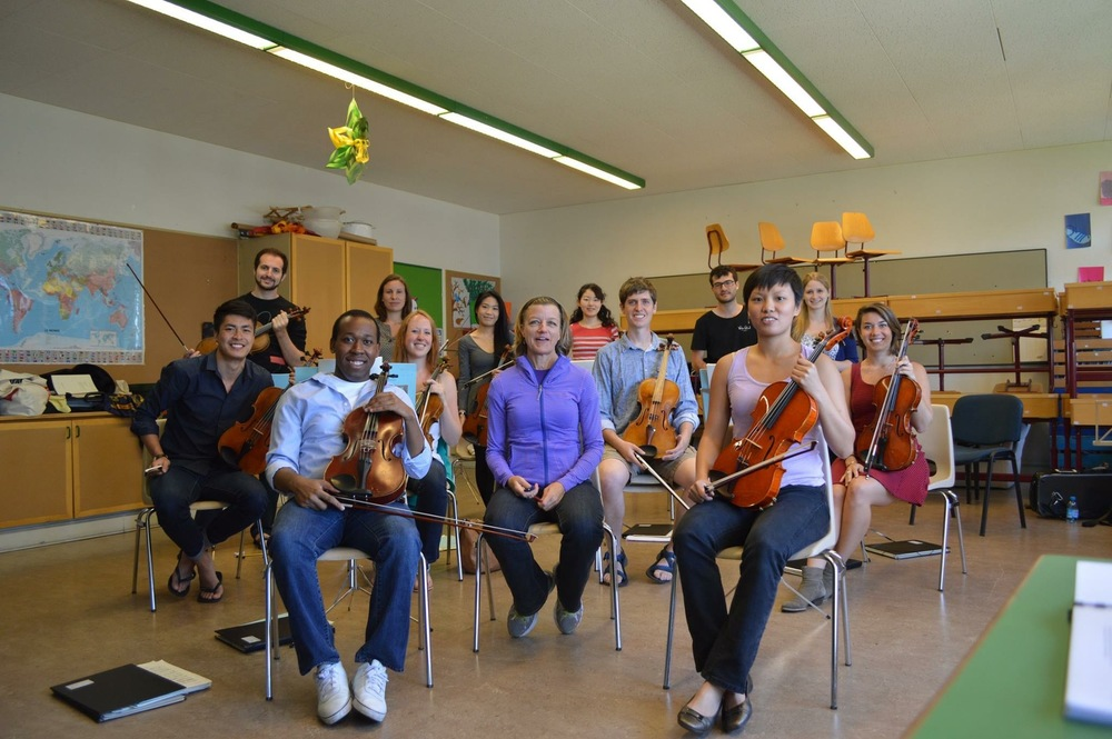 The 2015 VFO viola section