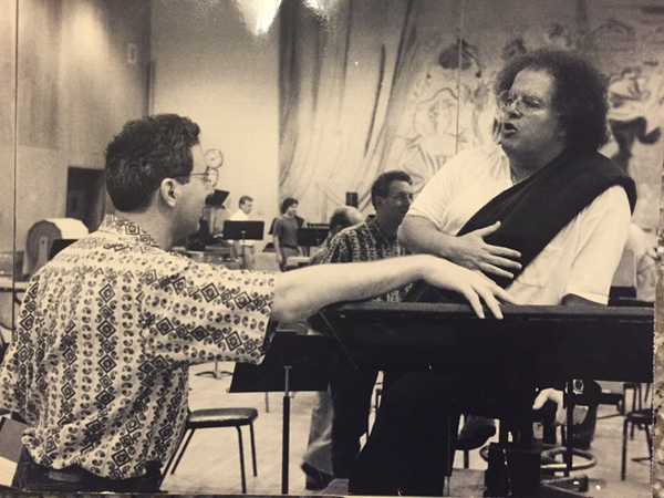 Greg Zuber with James Levine (Photo by Michael Ouzounian)