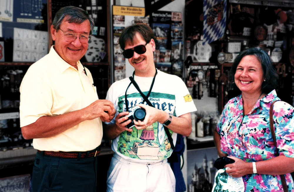 The three conspirators: (L to R) Ray, Garry, and Judy in Bavaria during the Spectors' honeymoon