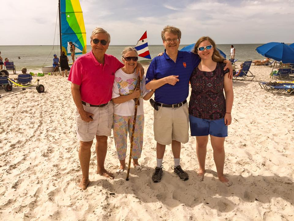 (L to R) Ray Gniewek, Judy Blegen, Garry Spector, and Melanie Spector (March, 2016; Naples, Florida)
