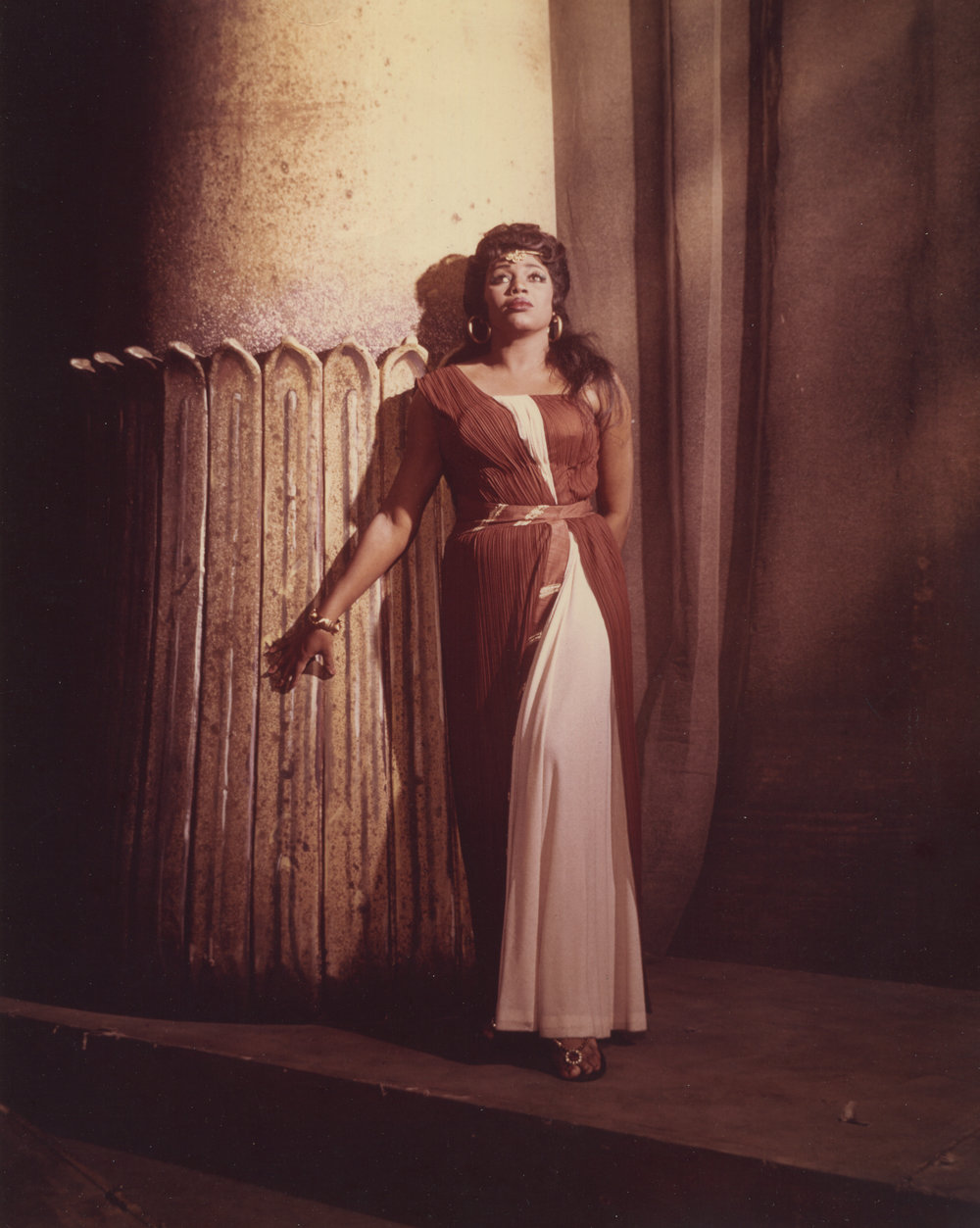 Leontyne Price in the title role of Aida (Photo by Louis Melancon/Metropolitan Opera)