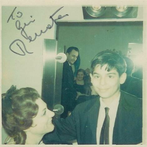 Jay Bernfeld with Renata Tebaldi, c. 1965