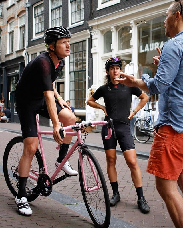 Amsterdam! Test rides are happening tonight and the next few days! Founder Sacha White and the crew are here at #RaphaAmsterdam to get you dialed in on the fit and individual features of each race machine! Ask us about getting setup on a #Speedvagen or email jenn@vanillabicycles.com to book a specific time. #SVFitTour 📷 @frankvandersman