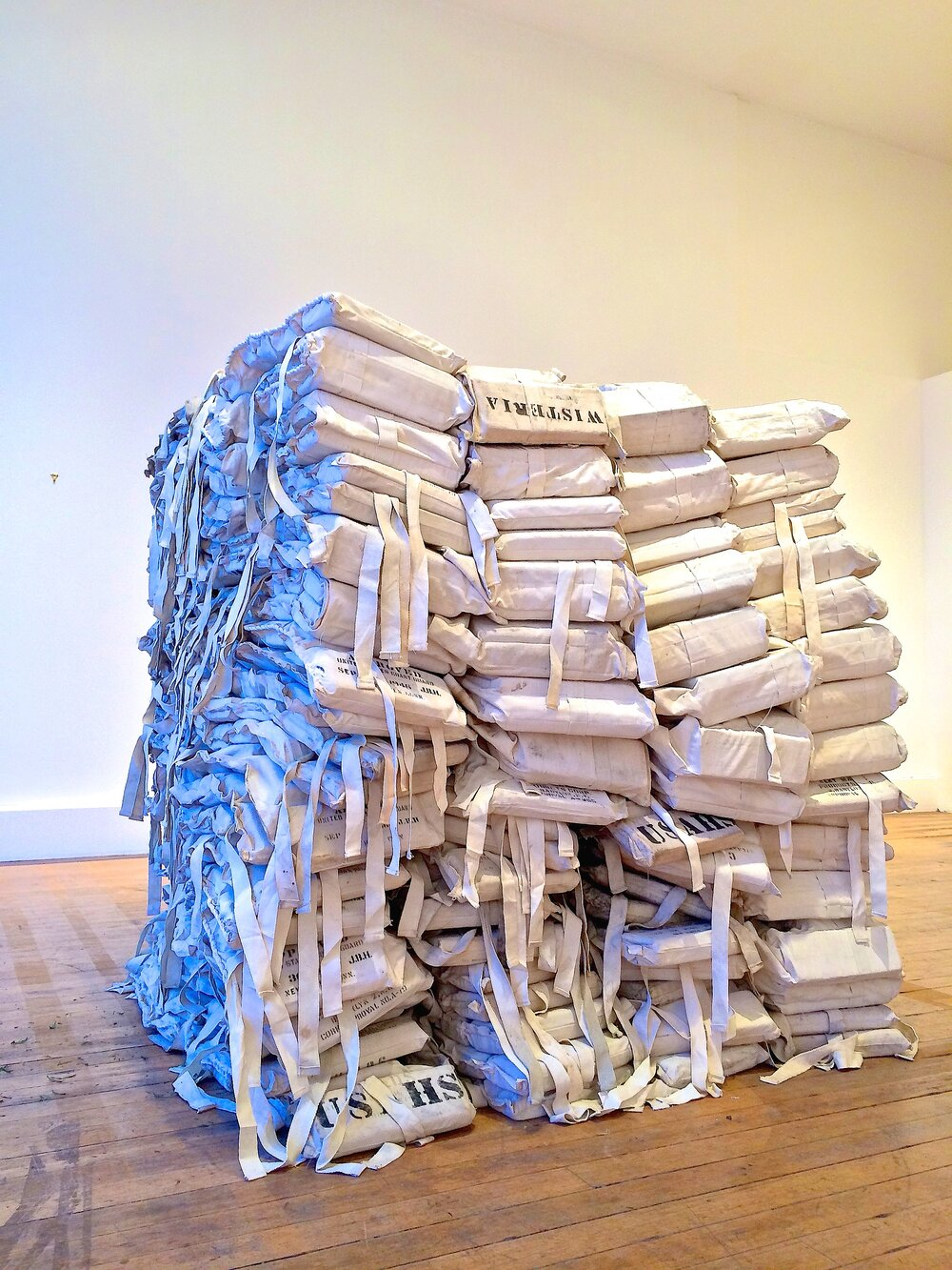 227 Life Preservers, Stacked, anchor art space, 2014