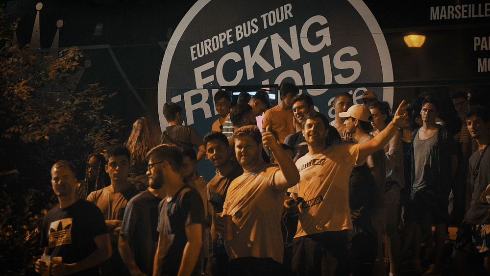 Input - 21.09.2018 Barcelona (Spain)FCKNG SERIOUS EUROPE BUS TOUR