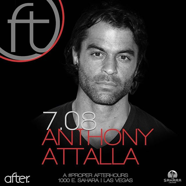 We're ready to get freaky with @anthonyattalla tonight (plus it's the #groovecruise reunion). Doors at 9pm | FREE before midnight. #djrules #AFTERarmy #AFTERhours #AFTERlasvegas #thesaharalounge #incorrectmusic