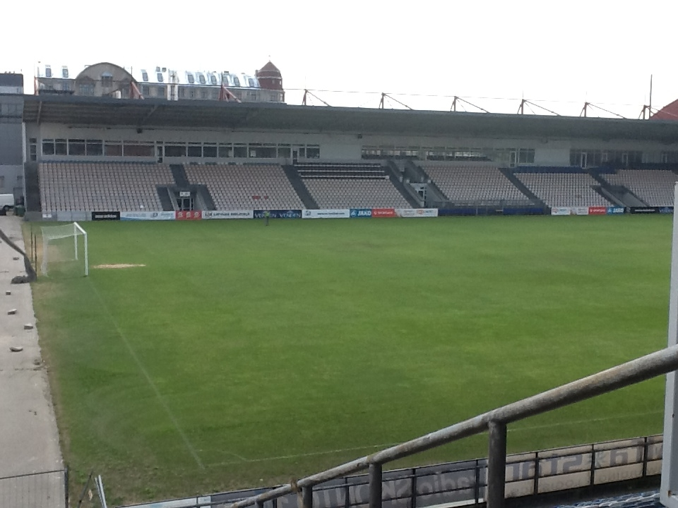 The view from the stands at Skonto Riga FC
