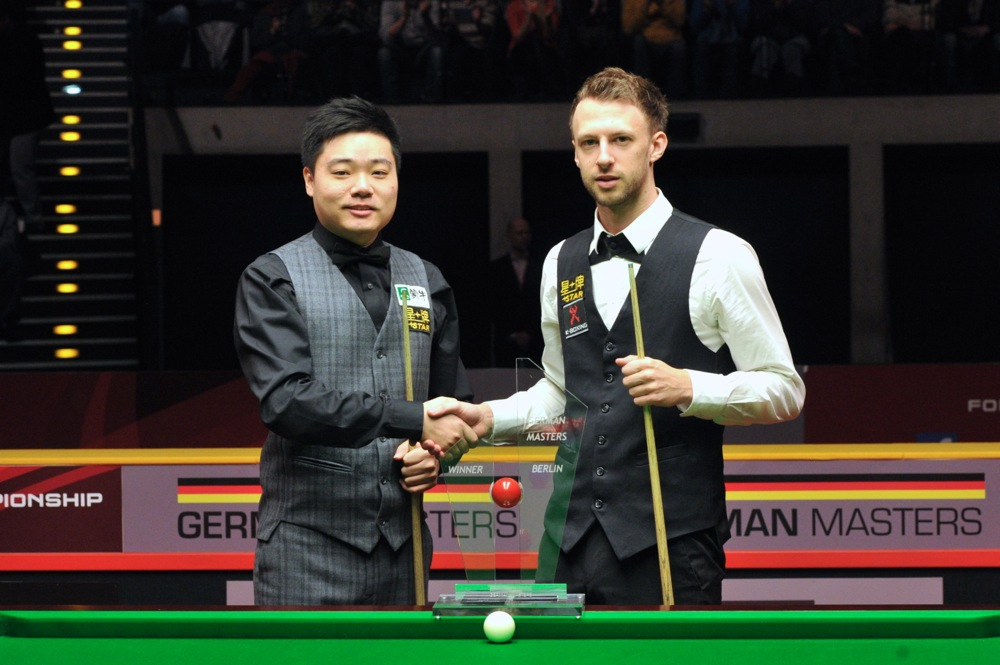 Ding Junhui beat Judd Trump to win the 2014 German Masters