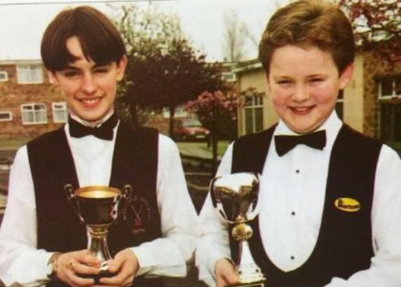 Lee Spick and Shaun Murphy as junior champions