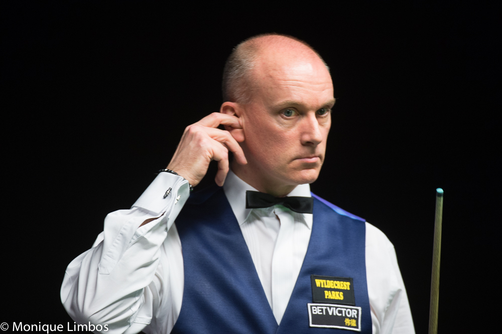 Peter Ebdon: burned the midnight oil to book a place in the last 32