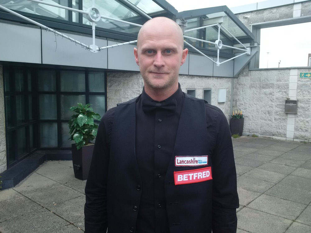 Craig Steadman pictured after qualifying for the Crucible (photo by prosnookerblog.com)