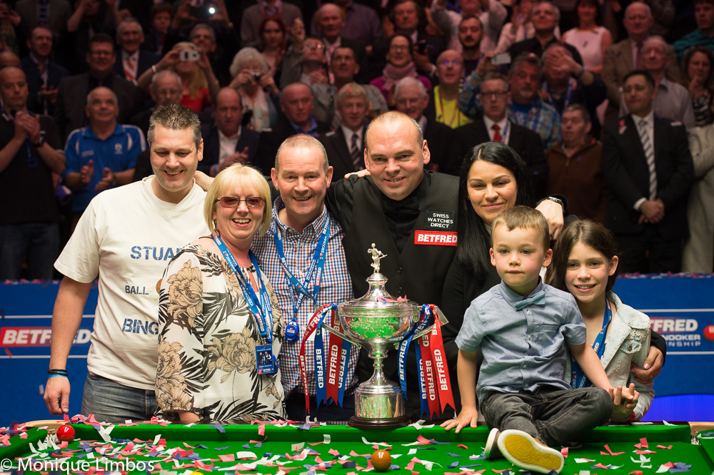 The Bingham family celebrates his world title victory