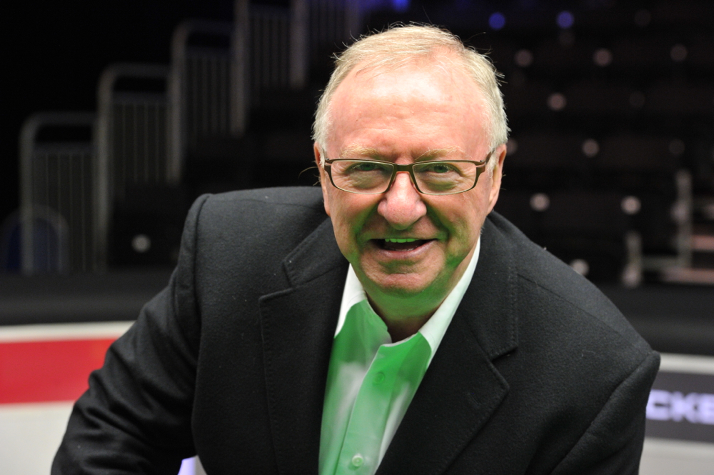 Dennis Taylor: three times World Cup winner