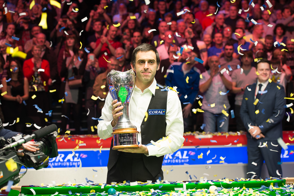 Ronnie O'Sullivan: defending champion will be in the Eurosport studio this year
