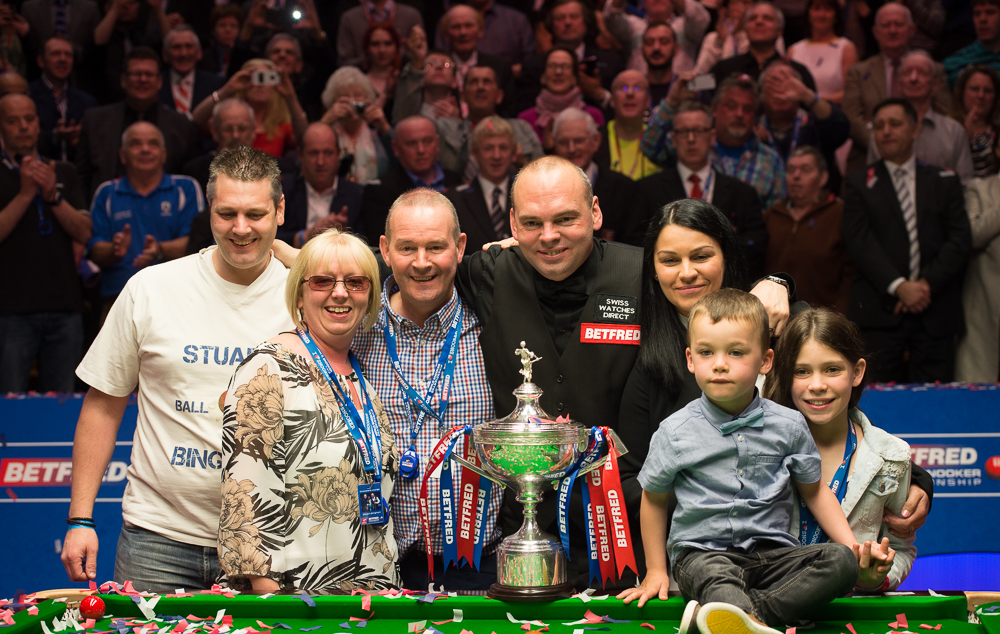 The Bingham family celebrate his Crucible triumph