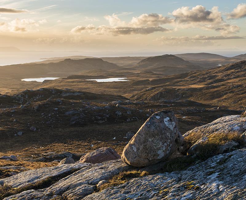 Gairloch Peninsula from Meall Bhadan an Aisc