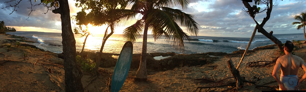 Image of beautiful Agaudilla, Puerto Rico, surf spot.