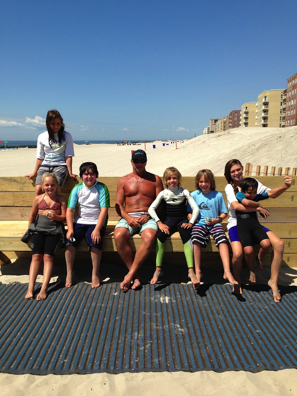 Group image of 2013 Surf2Live, Long Beach, NY Summer Surf Camp.