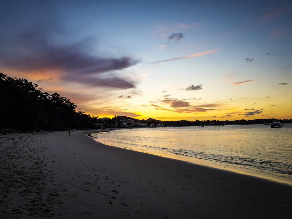Watch more sunsets than Netflix.   Shoal Bay Beach, Shoal Bay
