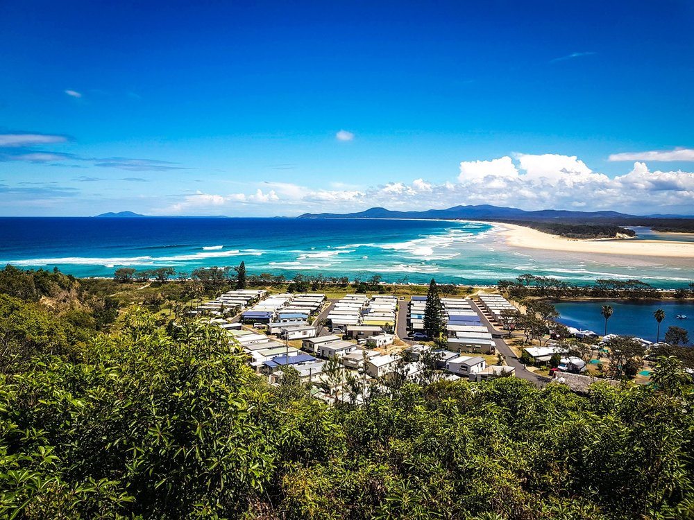 View from the Captain Cook Lookout, Nambucca Heads. More impressions in our 2nd Vlog. Stay tuned ;)