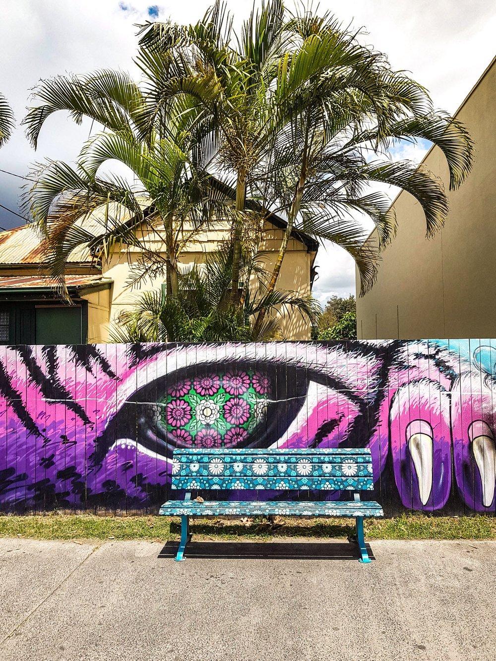 Hippie bench, Byron Bay
