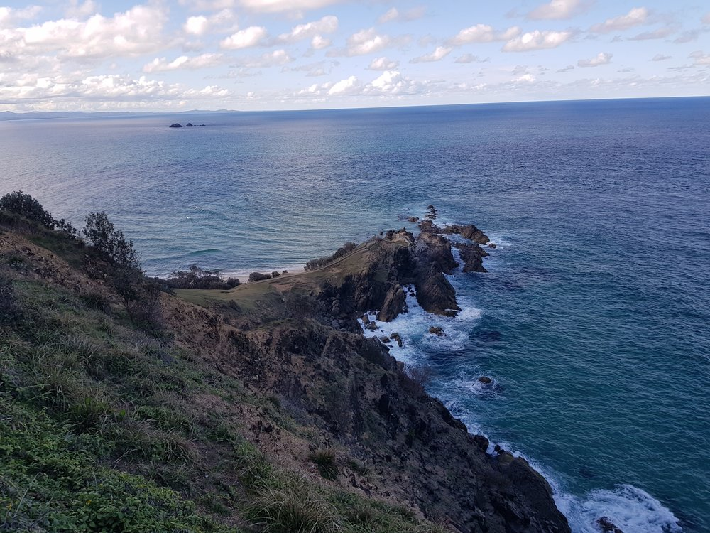 View from the lighthouse.  Byron Bay