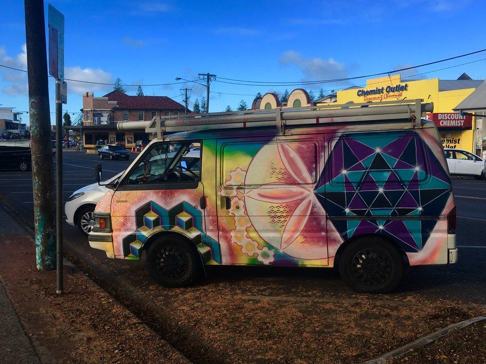 Just a normal Hippie car.  Byron Bay