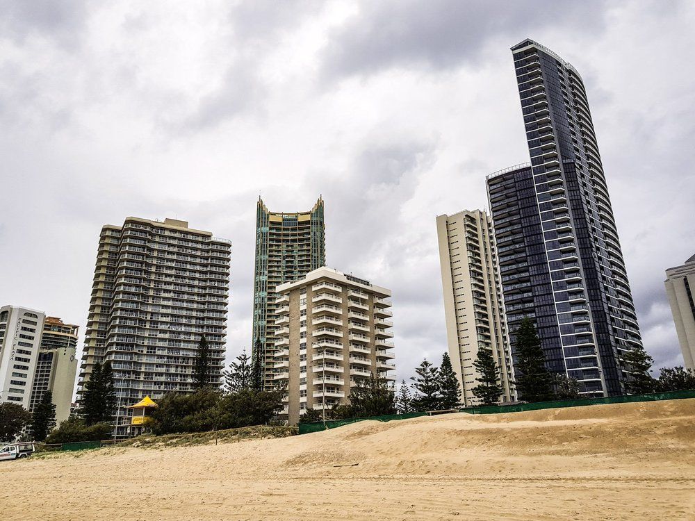 View from the Main Beach  Surfers Paradise