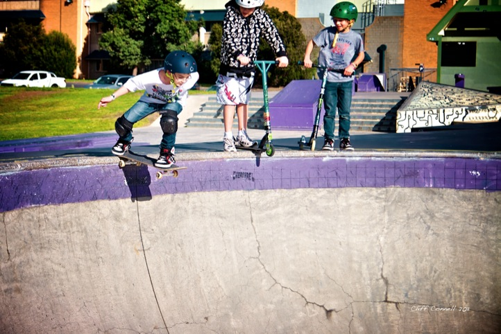 This young fellas first drop in to the bowl