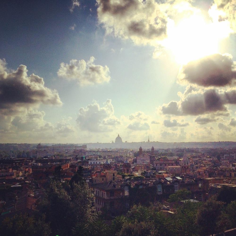 Rome from the Medici Villa