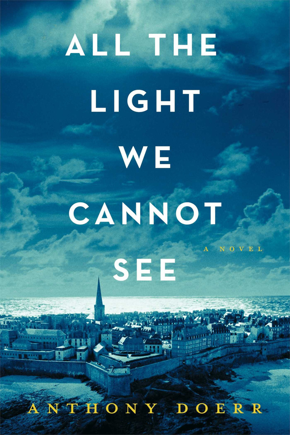 coverspy :     All the Light We Cannot See, Anthony Doerr (library copy, F, 20s, lime green scarf, PATH)
