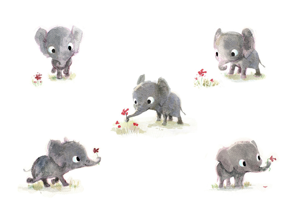sydwiki :     some little elephants.