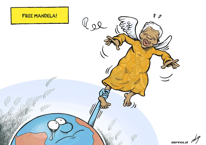 "cartoonpolitics :     ""Overcoming poverty is not a task of charity, it is an act of justice. Like Slavery and Apartheid, poverty is not natural. It is man-made and it can be overcome and eradicated by the actions of human beings. Sometimes it falls on a generation to be great. YOU can be that great generation. Let your greatness blossom.""  ~ Nelson Mandela, who sadly died today aged 95   (story here )."