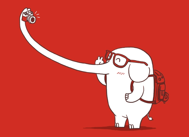 http://www.ilovedoodle.com/    What a fantastic photo find! A selfie traveling elephant. Jerome is that you!?
