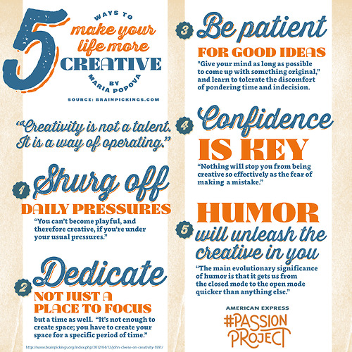 explore-blog :      American Express  has illustrated John Cleese's  famous speech on the 5 factors to make your life more creative .