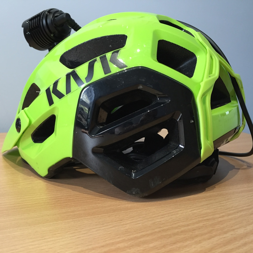 Kask Rex, with Lumicycle Explorer fitted