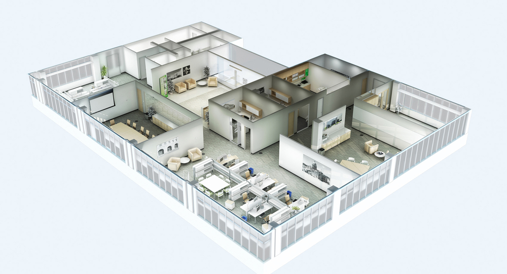 3d office floor plan. Project: SF Tools View: 3D Office Floor Plan, Tilted View 3d Plan