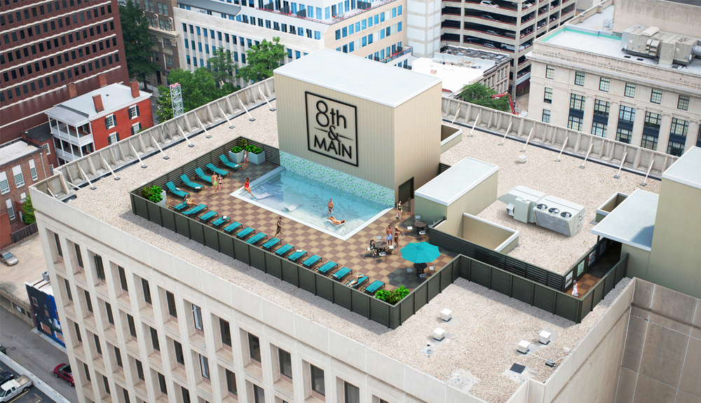 Project: 8th & Main                    Architect:  Fowler Architecture                     View: rooftop pool