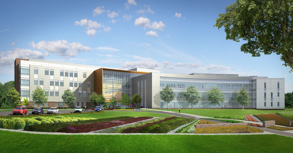 Project: Syngenta Research Facility                    Architect:  Flad Architects                     View: front perspective