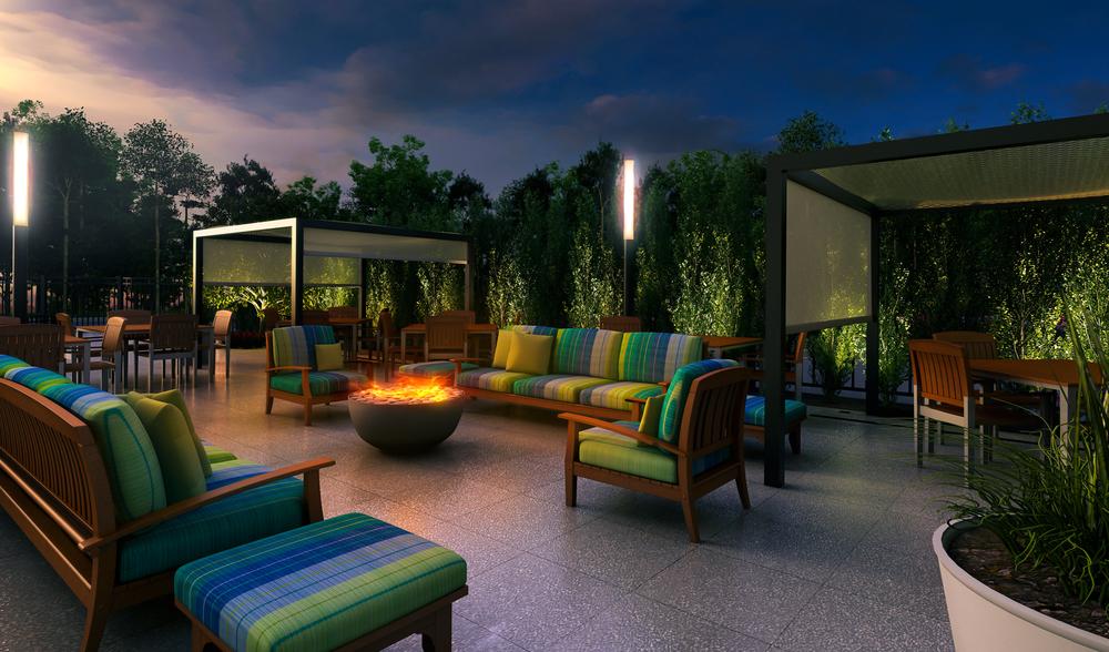 Project: Crown Plaza Hotel          Architect:  Thomas Hamilton & Associates           View: outdoor patio