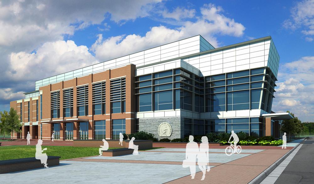 Project: VSU Arena          Architect:  Clark Nexsen  /  AECOM           Client:  Barton Malow           View: exterior 01
