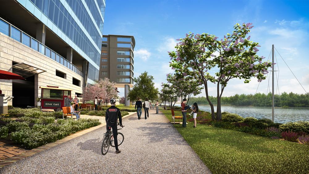 Project: RTOJ Riverfront Development          Architect:  Commonwealth Architects          View: exterior 02