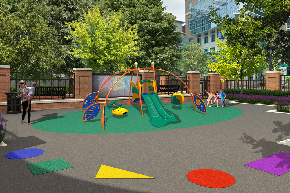 Project: Tidewater Community College - daycare playground                    Designer:  Shepard Studio, PLC                     View: exterior 01