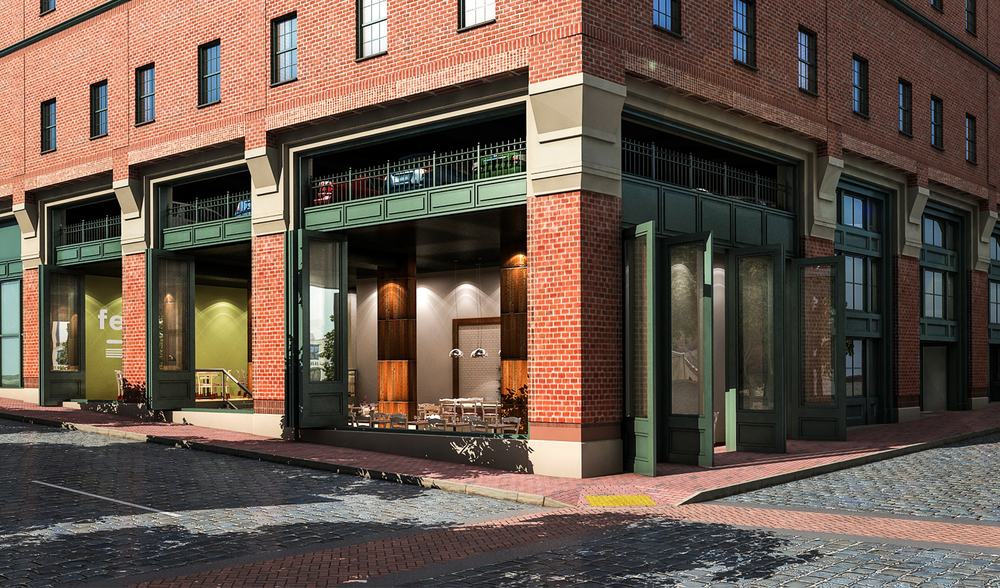 Project: Shockoe Plaza                    Architect:  Commonwealth Architects                     View: exterior 01