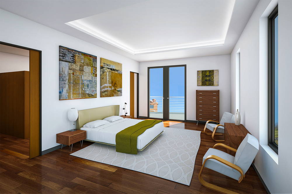 Project: One Shiplock   Architect:  Johannas Design Group    Developer: Muchos Gusto Enterprises   View: 8th Floor Master Bedroom